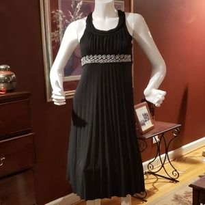 Beautiful Black Dress with Accordian Pleats